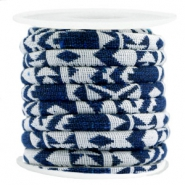 Aztec cord 6x4mm White blue