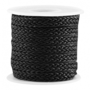 Woven waxed cord Black