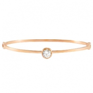 Diamond stainless steel bracelets Rose gold