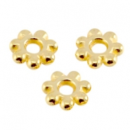 DQ metal bead spacer Bali Ring 5.6mm Gold (nickel free)