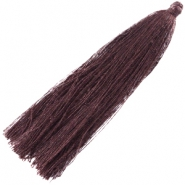 XL tassels 7cm Dark brown