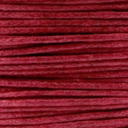 Waxed cord 1.0mm Ruby red