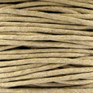 Waxed cord 1.0mm Camel brown