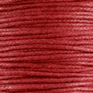 Waxed cord 1.5mm Ruby red