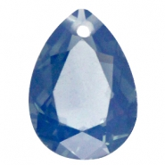 Drop shaped charms 18x25mm Montana blue opal