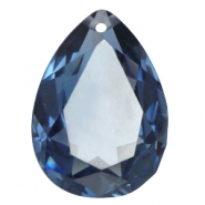 Drop shaped charms 18x25mm Light montana blue