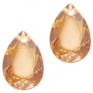 Drop shaped charms 10x14mm Topaz opal