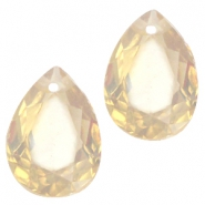 Drop shaped charms 10x14mm Light topaz opal