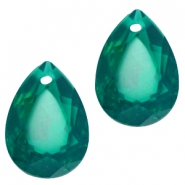 Drop shaped charms 10x14mm Green zircon