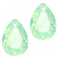 Drop shaped charms 10x14mm Crysolite green opal