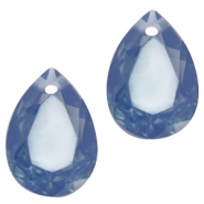 Drop shaped charms 10x14mm Montana blue opal