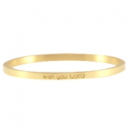 Quote bracelets thin Gold