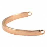 DQ metal bracelet connector Rose gold (nickel free)