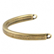 DQ metal bracelet connector Antique bronze (nickel free)