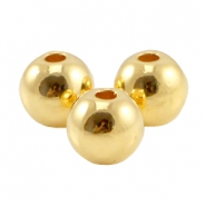 Round DQ metal bead 3mm Gold (nickel free)