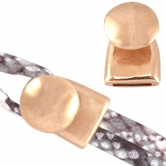 DQ metal end cap/clasp (for 2x5mm wire/leather) Rose gold (nickel free)
