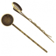 Metal shear pin for 12mm cabochon Bronze