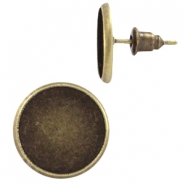 Metal earpins for 12mm cabochon Bronze