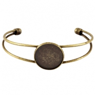 Metal bracelet for 20mm cabochon Bronze
