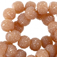 Sparkling beads 6mm Licht brown