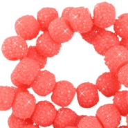 Sparkling beads 8mm Rouge red