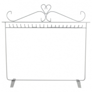 Metal jewellery stand single Grey