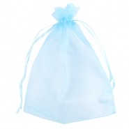 Organza jewellery bag 13x18cm Light blue
