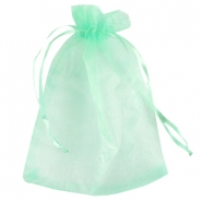 Organza jewellery bag 13x18cm Mint green
