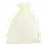 Organza jewellery bag 13x18cm Ivory