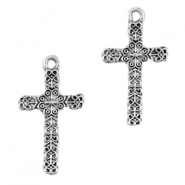Basic Quality metal charms cross Antique silver