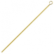 DQ metal eyepins 70mm Antique bronze (nickel free)
