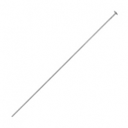 DQ metal headpins 50mm Antique silver (nickel free)