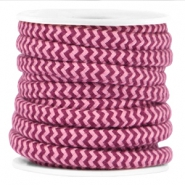 Dreamz cord 5mm Aubergine red-rose
