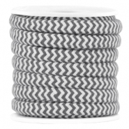 Dreamz cord 5mm Grey-off white
