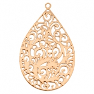 Drop shaped Bohemian charm Rose gold
