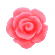 Matt rose beads 10mm Hot pink