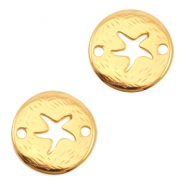 Round DQ metal connector seastar Gold (nickel free)