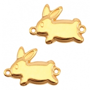 DQ metal charm /connector rabbit Gold (nickel free)
