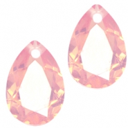 Drop shaped charms 10x14mm Pale pink opal