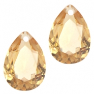 Drop shaped charms 10x14mm Light colorado topaz