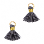 Mini tassels Ibiza style  Gold-Dark grey