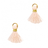Mini tassels Ibiza style  Gold-Light peach orange