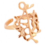 DQ metal olive branche ring Rose gold (nickel free)