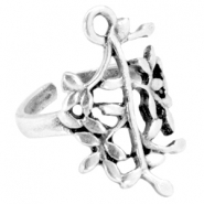 DQ metal olive branche ring Antique silver (nickel free)
