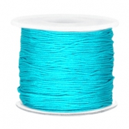 Macramé bead cord 0.7mm Dark azure blue