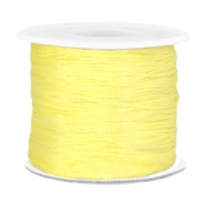 Macramé bead cord 0.7mm Soft yellow