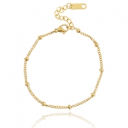 Stainless steel bracelet ball Gold