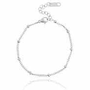 Stainless steel bracelet ball Silver
