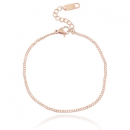 Stainless steel bracelet Rose gold