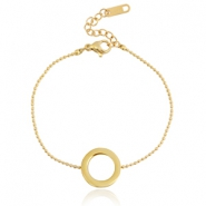 Stainless steel bracelet circle Gold